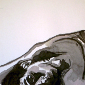 whatareyoufightingfor III 2009, Tusche auf Papier 20x20cm